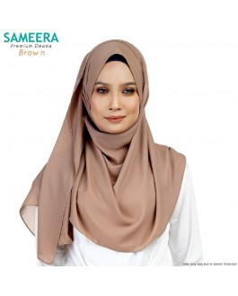 Sameera Premium Deana Shawl Brown