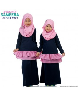 Sameera Kurung Princess Navy Blue