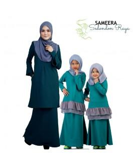 Sameera Kurung Princess Top Turquoise