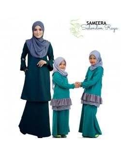Sameera Kurung Princess Bottom Turquoise