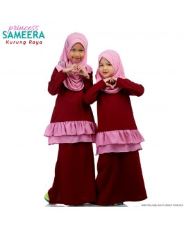Sameera Baju Kurung Princess Marron