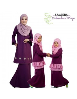 Sameera Kurung Princess Top Purple