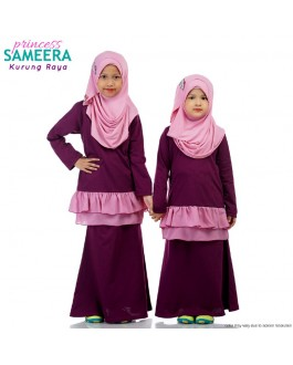 Sameera Baju Kurung Princess Purple