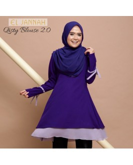 El Jannah Qisty Blouse Cadbury Purple