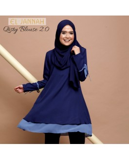 El Jannah Qisty Blouse Navy Blue 2.0