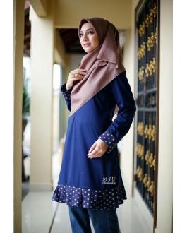 Muslimah4u Hasna Blouse Nevy Blue