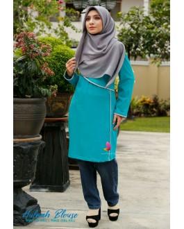 Muslimah4u Hulwah Blouse Green Turquoise