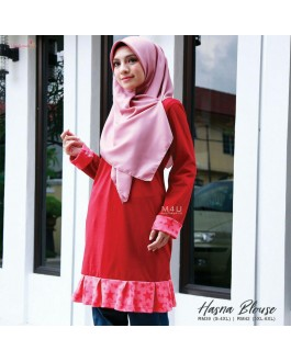 Muslimah4u Hasna Blouse Red
