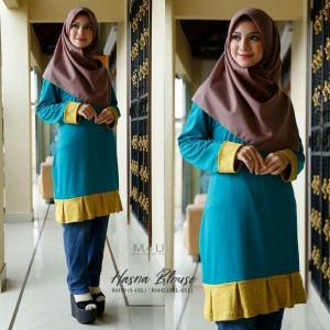 Muslimah4u Hasna Blouse Turquoise