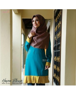 Muslimah4u Hasna Blouse Turquoise