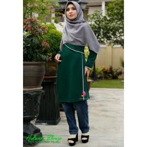 Muslimah4u Hulwah Blouse Emerald Green