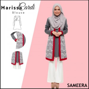 Sameera MarissaCardi Royal Grey