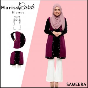 Sameera MarissaCardi Royal Purple