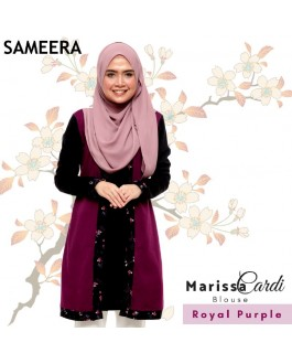 Sameera MarissaCardi Royal Purple