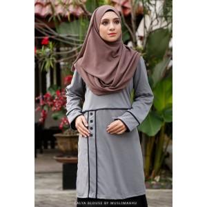 Muslimah4u Calya Blouse Grey