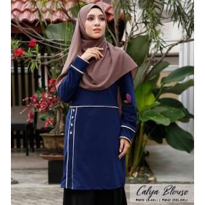 Muslimah4u Calya Blouse Navy Blue