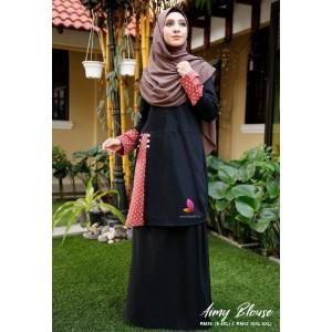 Muslimah4u Aimy Blouse Black