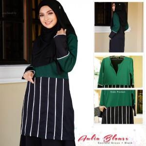 Muslimah4u Aulia Blouse Emerald Green