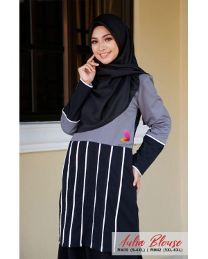 Muslimah4u Aulia Blouse Dark Grey