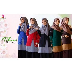 Muslimah4u Tihani Blouse Maroon
