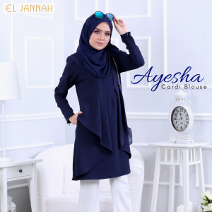El Jannah Ayesha Cardi Blouse Navy Blue