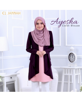 El Jannah Ayesha Cardi Blouse Royal Purple