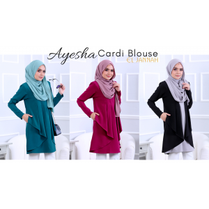 El Jannah Ayesha Cardi Blouse Royal Purple