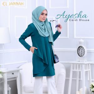 El Jannah Ayesha Cardi Blouse Turquoise