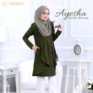 El Jannah Ayesha Cardi Blouse Army Green
