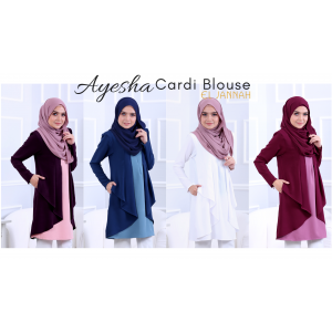 El Jannah Ayesha Cardi Blouse Denim Blue