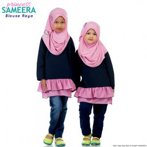 Sameera Princess Top Navy Blue