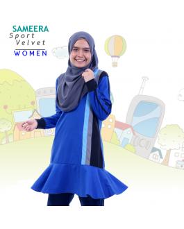 Sameera Sport Velvet Women (Biru)