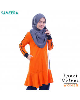 Sameera Sport Velvet Women (Orange)