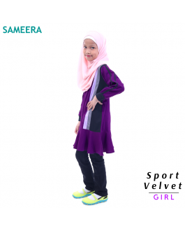 Sameera Sport Velvet Girl (Purple)