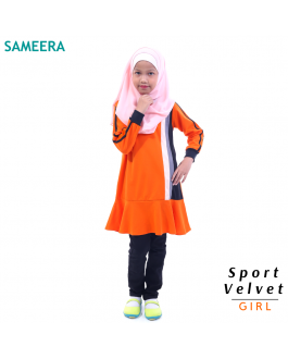 Sameera Sport Velvet Girl (Orange)