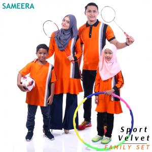 Sameera Sport Velvet Girl (Orange)