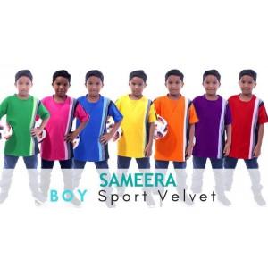 Sameera Sport Velvet Boy (Biru)