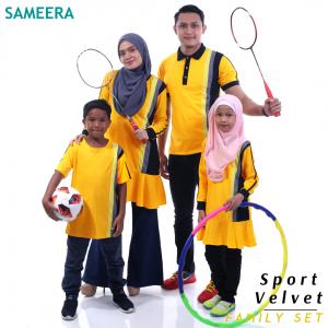 Sameera Sport Velvet Boy (Kuning)