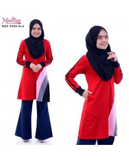 Baju Muslimah MED0088 Red