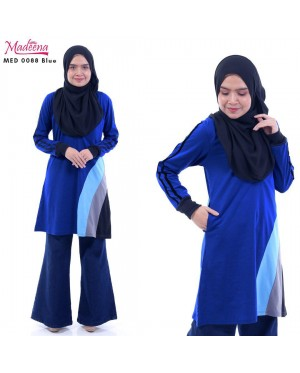 Baju Muslimah MED0088 Blue