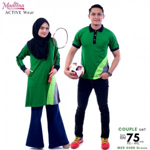 Baju Muslimah MED0088 Green