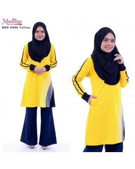 Baju Muslimah MED0088 Yellow