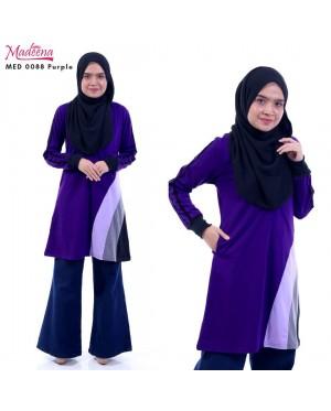 Baju Muslimah MED0088 Purple