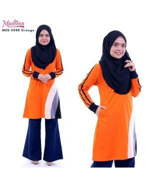 Baju Muslimah MED0088 Orange