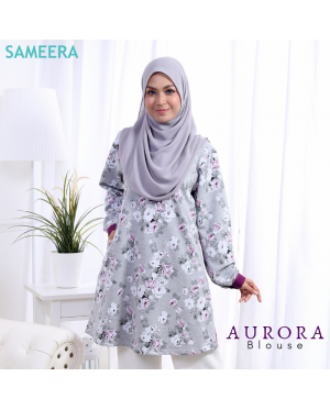 Blouse Muslimah Aurora Royal Purple