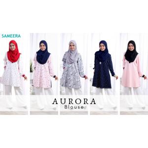 Blouse Muslimah Aurora Navy Blue