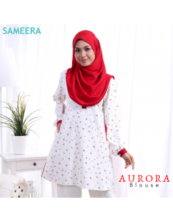 Blouse Muslimah Aurora Red