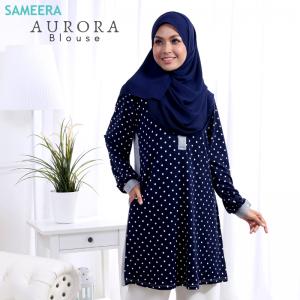 Blouse Muslimah Aurora Grey