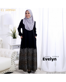 Jubah EVELYN Black