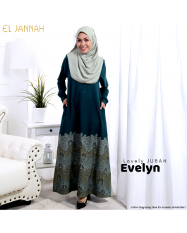 Jubah EVELYN Emerald Green